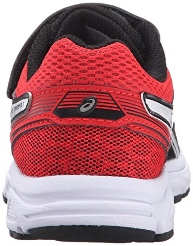 ASICS Pre-Contend 3 PS Running Shoe (Little Kid), Black/White/Vermilion, 2.5 M US Little Kid