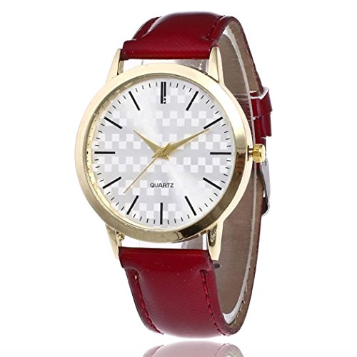 y Student Couple Leatherette Leather Band Analog Quartz Round Wrist Men's Fine Business Vintage Fashion Trend Belt Watch,Band Width 0.8 Inch,Band Length 9.7 Inch ()