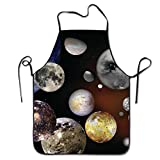 Novelty The Solar System Unisex Kitchen Chef Apron - Chef Apron For Cooking,Baking,Crafting,Gardening And BBQ