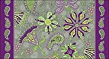 Toland Home Garden Passion Flower 20 x 38 Inch Decorative Paisley Flower Anti Fatigue Comfort Mat