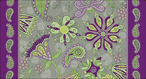 Toland Home Garden Passion Flower 20 x 38 Inch Decorative Paisley Flower Anti Fatigue Comfort Mat