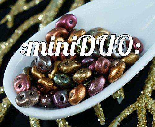 10g Matte Iris Violet Rainbow MINIDUO Czech Glass Seed Beads (Iris Glass Beads)