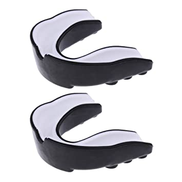 Sharplace 2 Pieces EVA Gum Shield Teeth Grinding Mouth Guard Boxing MMA  Rugby Prevent Damage to