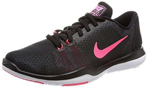 Nike WMNS NIKE FLEX SUPREME TR 5 - Zapatillas deportivas, Mujer, Negro - (Black/White-Racer Pink-Dark Grey)