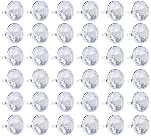 Blue Panda 36-Pack Bulk Jumbo Fake Diamond Rings for Kids Party Favors, Wedding, Bachelorette, & Bridal Decor]()