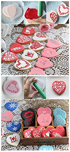8 Pcs Packed Easter Eggs Cookie Cake Stencil Decorate Mould Fondant Biscuit Tool