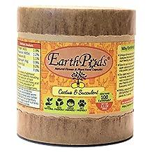 EarthPods CACTUS + SUCCULENT Organic Plant Food Spikes (100 Capsules, Indoor & Outdoor Fertilizer for Cacti / Succulents / Aloe Vera / Jade House Plant & Flower Gardens)