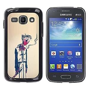 Ihec Tech Hombre Humo Muerte Pintura Arte Simbólico / Funda Case back Cover guard / for Samsung Galaxy Ace 3