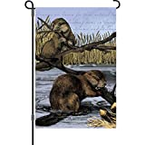 Premier 51358 Garden Illuminated Flag, Busy Beavers, 12 by 18-Inch