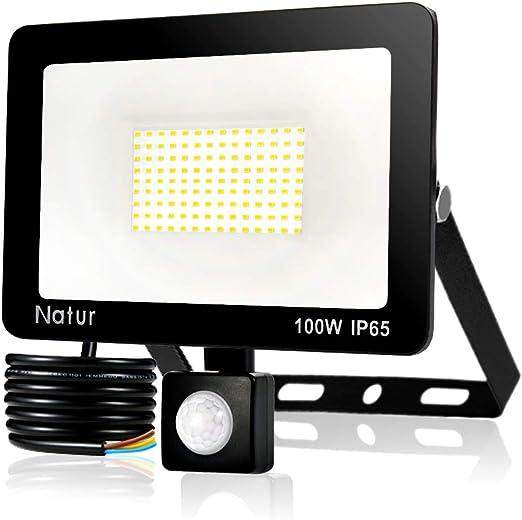 Proyector Led Impermeable IP66 Floodlight Led Foco Blanco Fr/ío 6500K Exterior Iluminaci/ón para Patio Almac/én Jard/ín Dersoy 100W Foco Exterior con Sensor Movimiento Camino