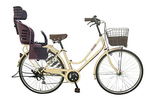 Lupinusルピナス 自転車 26インチ LP-266HA-knrj-br シティサイクル LEDオートライト SHIMANO製6段ギア 樹脂製後子乗せブラウン B079DNW8VKミルクティー