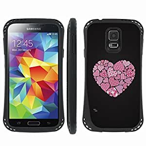 [ArmorXtreme] Prime Hybrid Armor Design Image Protect Case (Heart) for Samsung Galaxy S5