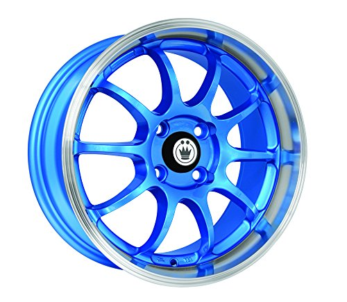 Konig Lightning Blue Wheel with Machined Lip - Machined Wheels Lip