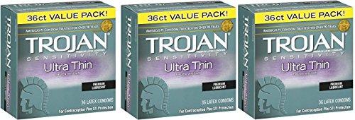 Trojan Ultra Thin Latex Condoms, 108 Count by Trojan