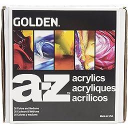 Golden A-Z Heavy Body Acrylic Paint Full Set