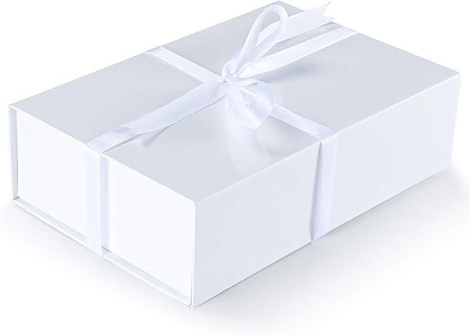 Amazon.com: XINGHONGXING - Caja plegable blanca con cierre magnético, caja de regalo rectangular dura de 10.5 x 7.0 x 3.0 in, caja de regalo de vacaciones, caja de regalo conmemorativo (3 unidades), color blanco: Health & Personal Care