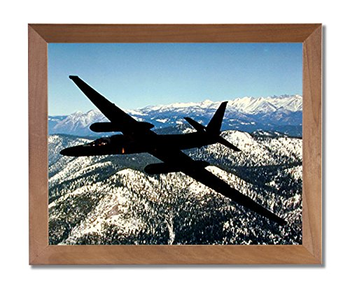 USAF U2 Spy Plane Jet Airplane Wall Picture Honey Framed Art - Plane U2 Spy Pictures