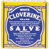 White Cloverine Salve, Petrolatum Skin Protectant, 1 Ounce Tin - 3 Pack by Cloverine Salve