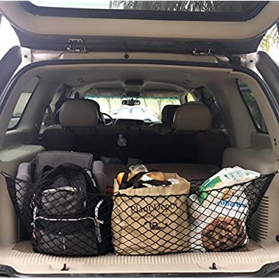 Heavy Duty Cargo Net Stretchable, Universal Adjustable Elastic Truck Net with Hooks, Storage Mesh Organizer Bungee for Car, SUV, Truck: Automotive