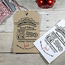 amazon com from santa gift tags children s christmas tags
