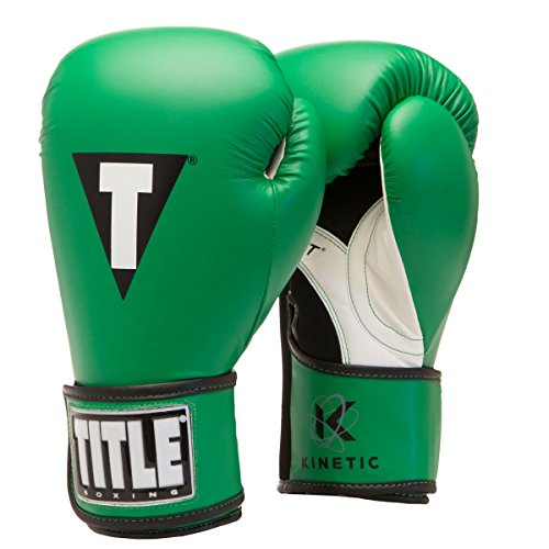 Title Boxing Kinetic Aerovent Boxing Gloves, Green/Black, 12 oz