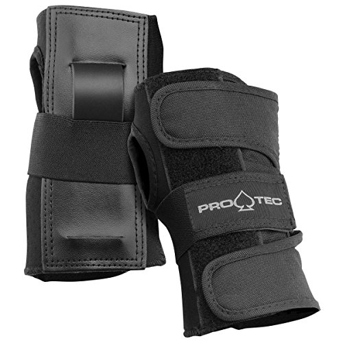 Pro-Tec Street Gear Skate and Bike Wrist Guards (Black, Small)