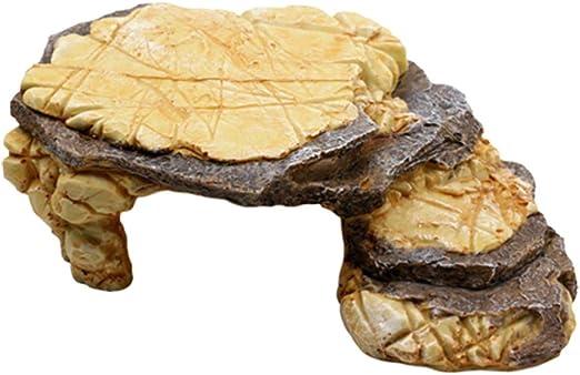 Balacoo Turtle Basking Platform Reptil Escondite Escalera de Roca Acuario Pecera Decoración para Pequeños Reptiles Tortuga: Amazon.es: Productos para mascotas