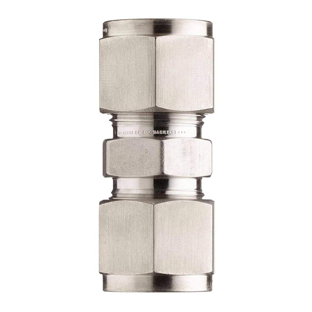 Straight Connect Double-Ferrule Adapter Beduan 304 Stainless Steel Compression Tube Fitting 1//2 x 1//2 Tube OD