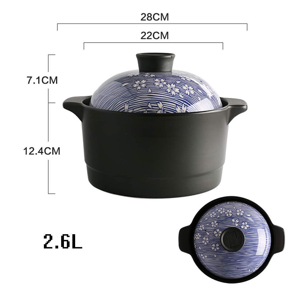 Cacerola de cerámica, apta para inducción, horno holandés, cocina ...