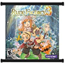 "Rune Factory 3 A Fantasy Harvest Moon Game Fabric Wall Scroll Poster (16"" x 17"") Inches"
