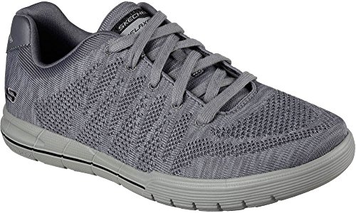 Skechers Relaxed Fit Arcade II Demps Mens Sneakers Charcoal Qyxm63rhnw