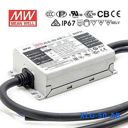 (Meanwell XLG-50-AB Power Supply - 50W 1A -IP67)