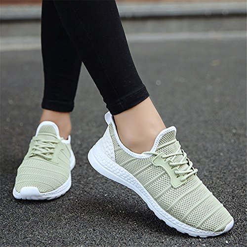 Athletic Spring HUAN Shoes up Comfort D White Shoes Casual Gray Walking Tulle Unisex Shoes Sneakers Black Men's Lovers Lace for Fall PPtO8w