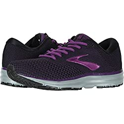 Brooks Women's Revel 2 Black/Purple/Grey 9.5 B US