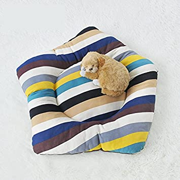 Miyare Tapis Lit Coussin Impermeable pour Chien Chat Animaux (Blanc L)
