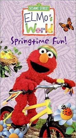 Amazon Com Elmo S World Springtime Fun Vhs Sesame