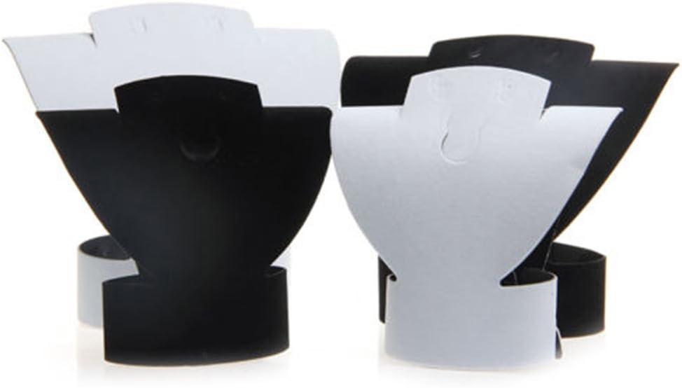 Souarts Pr/ésentoir Support Buste pour Collier Bijoux en Flanelle Velours et Papier Noir avec Bo/îte en Mousse 22,5x16,5cm 8-7 // 8x6-1//2 1PC