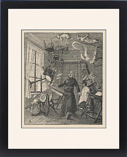 Framed Print Of Poltergeists/cideville by Prints Prints Prints