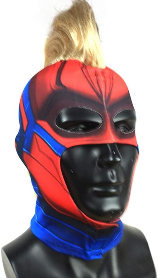QWEASZER Máscara Capitán Marvel Mujeres Adultas Cosplay Hero Lady ...
