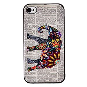 Buy Flowers decorated elephant painted black box of computer hard disk for the iPhone 4/4