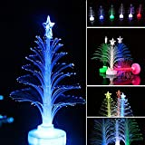 Sinwo Merry Christmas LED Color Changing Mini Christmas Xmas Tree Home Table Party Decor Charm (Blue)