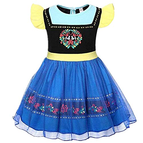 Tsyllyp Girls Halloween Costume Princess Anna Elsa Alice Sofia Dress Up Outfit