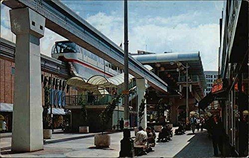 Monorail Station, Westlake Mall Seattle, Washington Original Vintage - Seattle Washington Mall