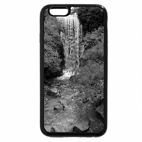 iPhone 6S Plus Case, iPhone 6 Plus Case (Black & White) - Waterfall