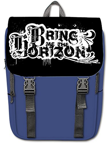fellt diy print Custom bring me the horizon logo School Bag 12