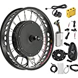 Murtisol Electric E-Bike Motor Kit 20'' Fat Tire Rear Wheel 48V 1000W Bicycle Motor Conversion Kit