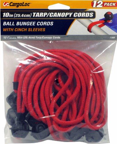 CargoLoc 32555 Tarp Cords, 10-Inch, Red