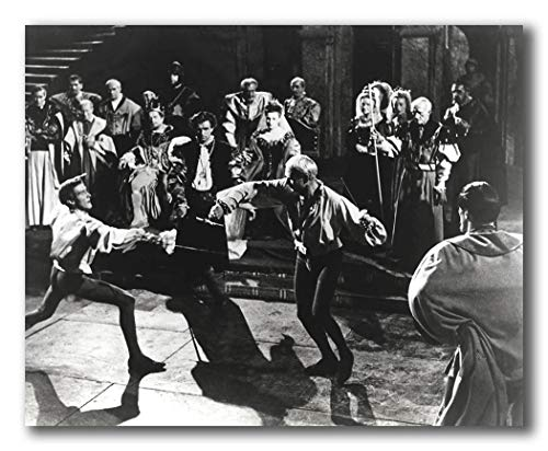 wallsthatspeak Film Still Featuring Laurence Olivier Sword Fighting in Hamlet Printed on 10x8 Poster Wall Art by Movie Star -