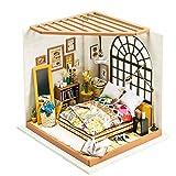 Eggschale Dollhouse Miniature DIY House Kit 3D Model Wooden Toy House Alice's Dreamy Bedroom Creative Gifts for Kids Girlfriend Women Birthday Children's Day Valentine's Day