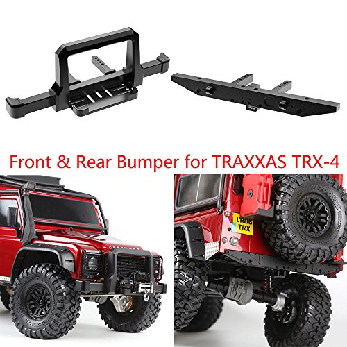 Benedict Harry CNC Alum Front & Rear Winch Bumper Set Black For Traxxas TRX-4 1/10 RC Crawler (Front & Rear)
